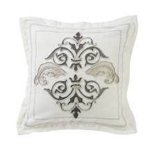 See Details - Charlotte Square Outlined Embroidered Pillow W/ Flange, 18x18