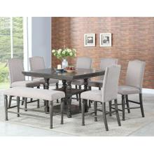 Caswell 8 Piece Counter Set(Counter Table, Counter Bench & 6 Counter Chairs)