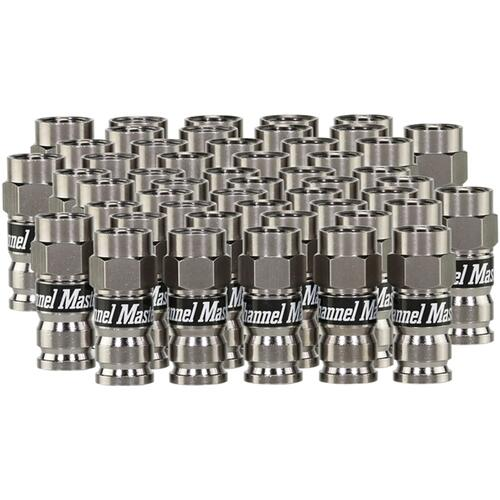 """(50-Pack) Coaxial Compression """"F"""" Connector"""