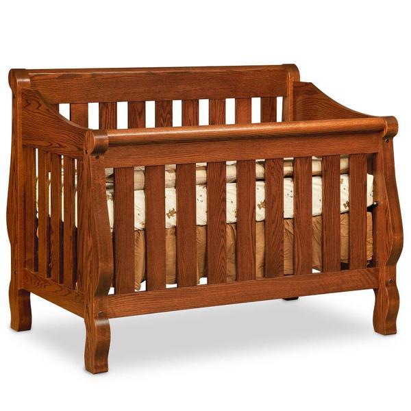 See Details - Sleigh Convertible Crib