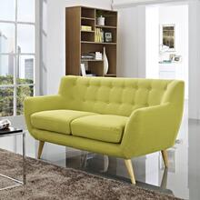 See Details - Remark Upholstered Fabric Loveseat in Wheatgrass