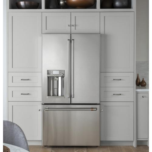 GE Appliances - Café ENERGY STAR® 22.2 Cu. Ft. Counter-Depth French-Door Refrigerator with Keurig® K-Cup® Brewing System