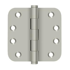 "4"" x 4"" x 5/8"" Radius Hinges Residential - Brushed Nickel Product Image"