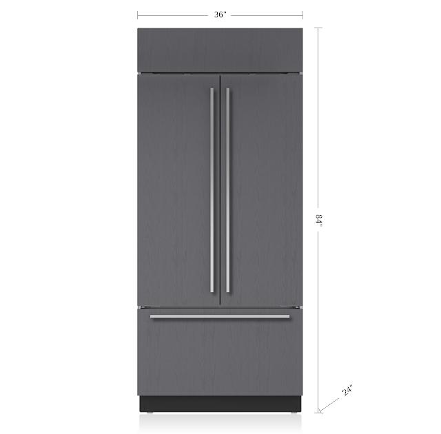 "Subzero36"" Classic French Door Refrigerator/freezer With Internal Dispenser - Panel Ready"