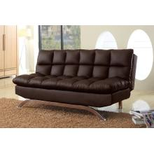 8035 DARK BROWN PU Futon Sofa Bed