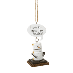 """Toasted S'mores """"I Love You More Than Chocolate!"""" Ornament"""