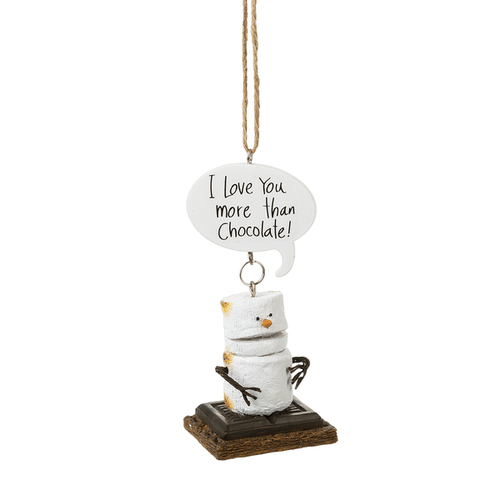"Toasted S'mores ""I Love You More Than Chocolate!"" Ornament"