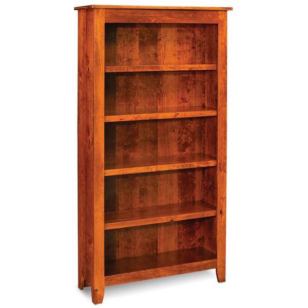 See Details - Shenandoah Open Bookcase, 3 Adjustable Shelves