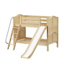 Low Bunk w/ Angle Ladder & Slide : Twin : Natural : Curved