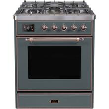 30 Inch Blue Grey Dual Fuel Liquid Propane Freestanding Range
