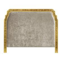US King Gilded & glomise Headboard, Upholstered in Calico Velvet