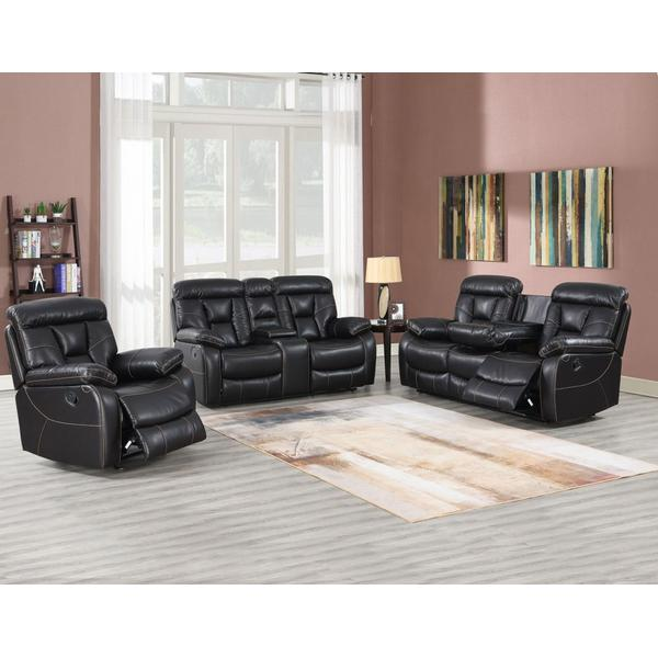 Squire 3-Piece Manual Reclining Upholstery Set (Sofa, Loveseat & Chair)