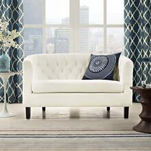 Prospect Performance Velvet Loveseat in Ivory