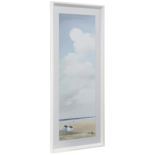 Style Craft - PROMINENT SKIES II  16in w X 41in ht  Framed Print Under Glass with Matte