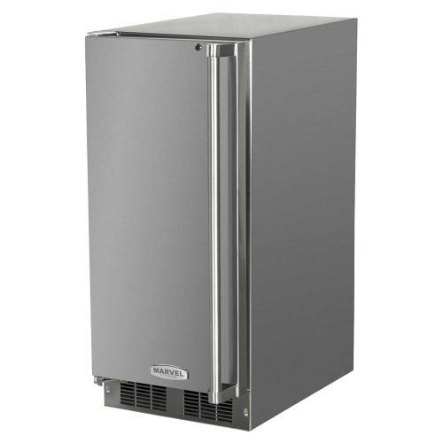 15-In Outdoor Built-In All Refrigerator with Door Swing - Left