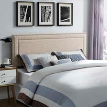 View Product - Jessamine King Upholstered Fabric Headboard in Beige