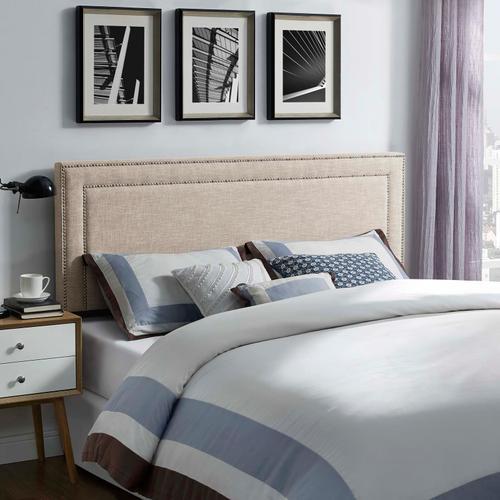 Modway - Jessamine King Upholstered Fabric Headboard in Beige