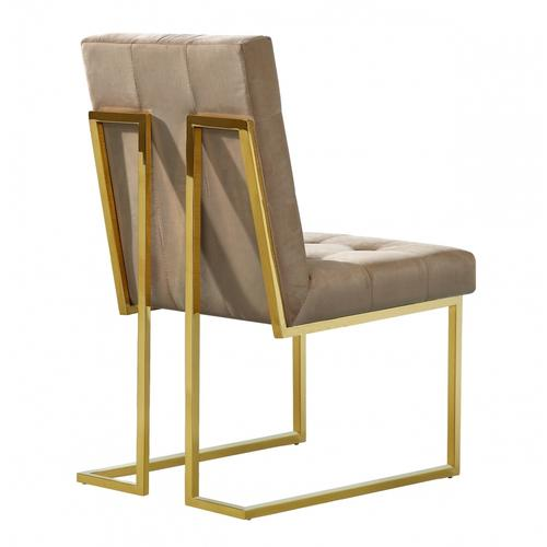 "Pierre Velvet Dining Chair - 18.5"" W x 25"" D x 36.5"" H"