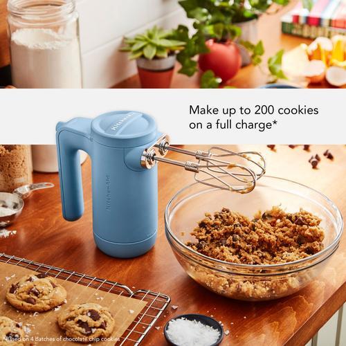 KitchenAid - Cordless 7 Speed Hand Mixer - Blue Velvet