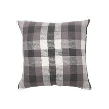 18x18 Hand Woven James Pillow Gray