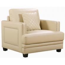 """See Details - Ferrara Leather Chair - 39.5"""" W x 35"""" D x 34"""" H"""