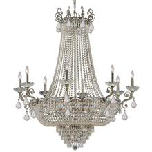 Majestic 20 Light Clear Crystal Brass Chandelier