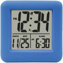 Soft Cube LCD Alarm Clock (Blue)