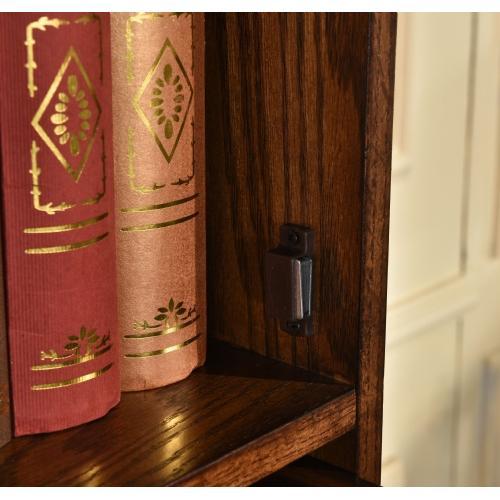 4-door Barrister Bookcase W/ Lift-up Slide Back Doors