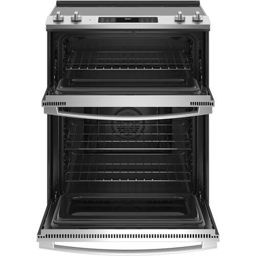 "GE® 30"" Slide-In Electric Convection Double Oven Range"