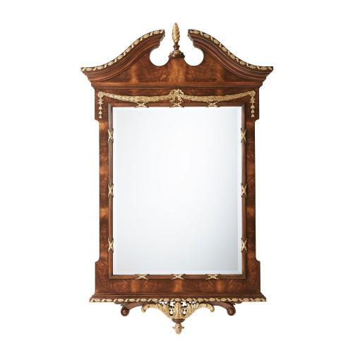 See Details - The India Silk Bedroom Wall Mirror