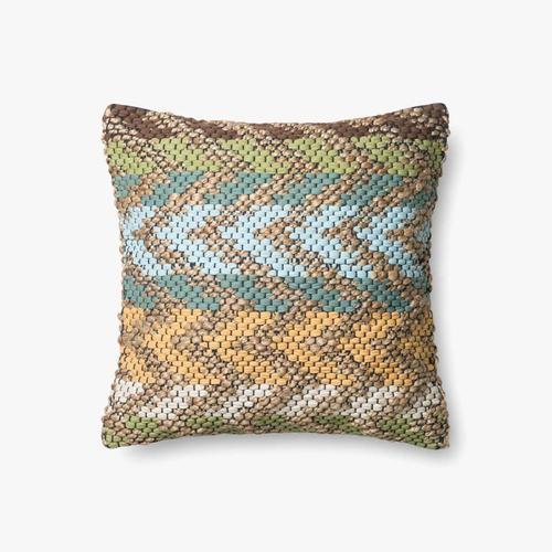 P0330 Green / Multi Pillow