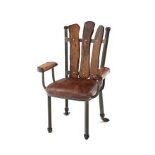 See Details - Steel Traditions - Scottsdale Arm Chair With Leather Seat