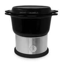 Kalorik 4.8 Quart Ceramic Steamer with Steaming Rack, Black