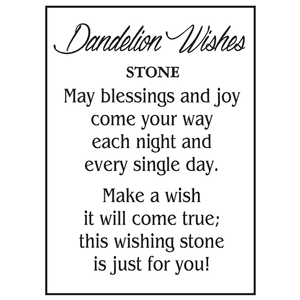 Dandelion Wishes Stones in a Basket (24 pc. ppk.)