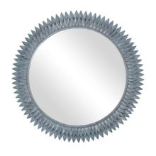 "Bellamy 38"" Round Mirror, Grey Patina"