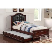 Harel Twin Bed, Darkcherry-black
