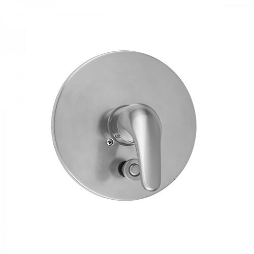 Oil-Rubbed Bronze - Round 2-Hole Plate With Flat Lever Trim For Pressure Balance Valve With Built-in Diverter (J-DIV-PBV)
