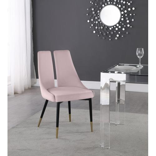 "Sleek Velvet Dining Chair - 22"" W x 24.5"" D x 35.5"" H"