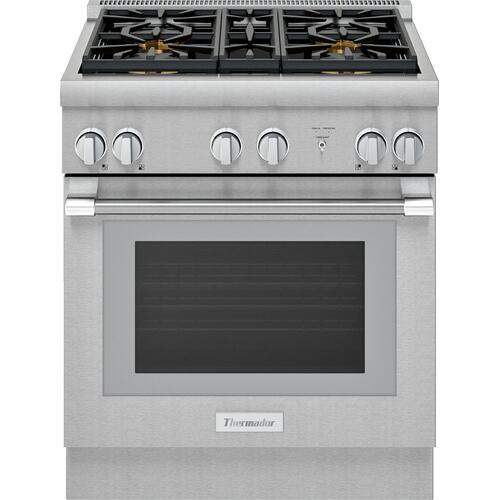 30-Inch Pro Harmony® Standard Depth Gas Range PRG304WH
