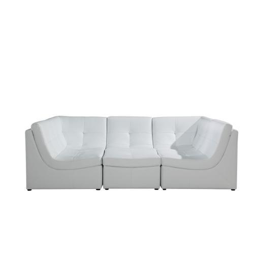 Divani Casa 207 Modern White Bonded Leather Sectional Sofa