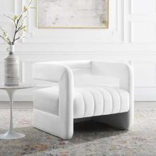Range Tufted Performance Velvet Accent Armchair in White