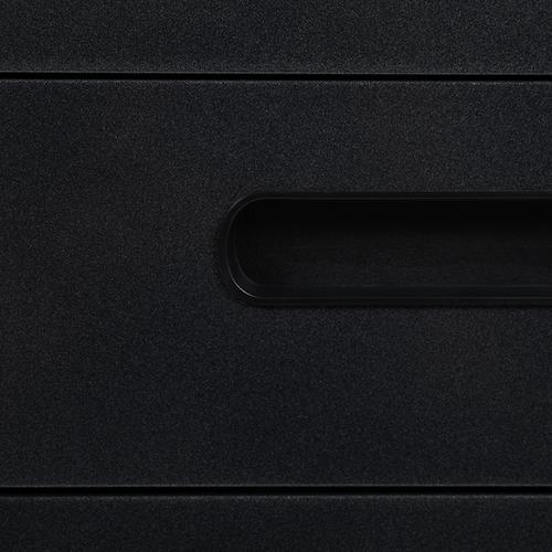 Ergonomic 3-Drawer Mobile Locking Filing Cabinet with Anti-Tilt Mechanism and Hanging Drawer for Legal & Letter Files, Black