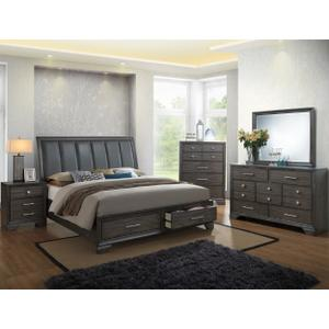 Crown Mark B6580 Jaymes Storage Queen Bedroom