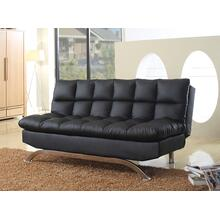 8035 BLACK PU Futon Sofa Bed