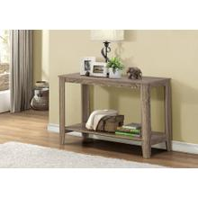 """ACCENT TABLE - 44""""L / DARK TAUPE HALL CONSOLE"""