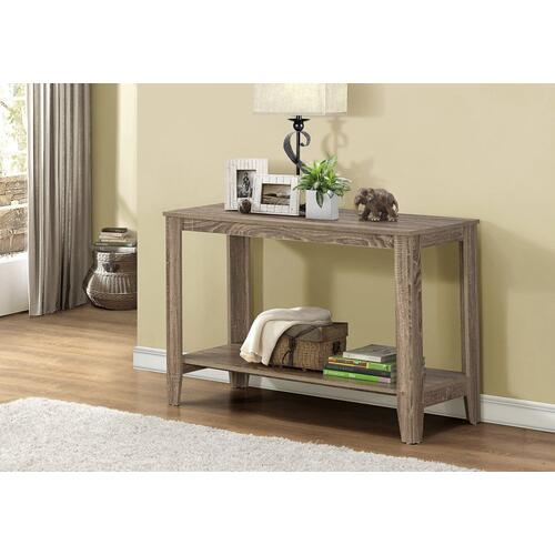 """Gallery - ACCENT TABLE - 44""""L / DARK TAUPE HALL CONSOLE"""