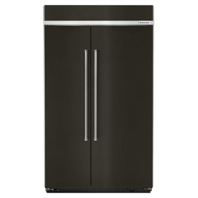 Kitchenaid 30.0 cu. ft 48-Inch Width Built-In Side by Side Refrigerator with PrintShield™ Finish - Black Stainless
