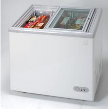 See Details - Model CF211G - 7.4 CF Commercial Glass Top Display Chest Freezer - White
