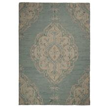 "Athena-Medallion Lt. Blue - Rectangle - 27"" x 45"""