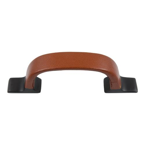 Hamptons Saddle Leather Pull 3 Inch (c-c) - Aged Bronze